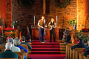 Dana and Susan Robinson perform in the Bethany Church Sanctuary during First Night 2010 in Montpelier Vermont.