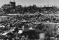 Hiroshima after the Atomic Bomb  on August 6, 1945, Photograph: Dennis Brack Archives