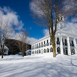 The historic Windham County Courthouse in Newfane, Vermont.