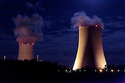 atomic power plant cooling towers