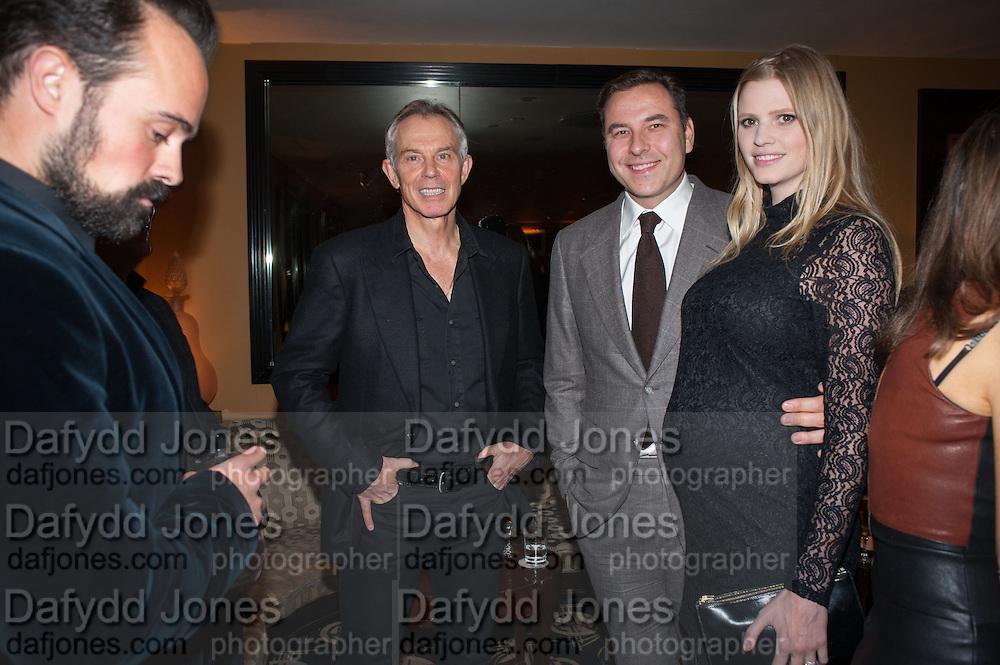EVGENY LEBEDEV; TONY BLAIR; DAVID WALLIAMS; LARA STONE, Chinese New Year dinner given by Sir David Tang. China Tang. Park Lane. London. 4 February 2013.