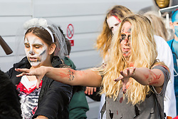 © Hugo Michiels Photography. 28/10/2017. Brighton, UK. Members of the public take part in the 2017 Brighton palace per zombie walk. Photo credit: Hugo Michiels Photography
