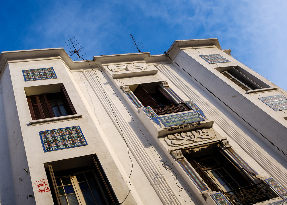 CASABLANCA, MOROCCO - CIRCA APRIL 2017: Art Deco Building  in  Casablanca