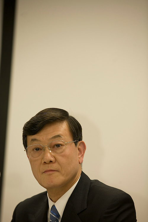 Fumio Ohtsubo President Matsushita Electric Industrial Co. LTD (MEI) at a Press conference after being named the New President on June 28 (matsushita is the parent company of Panasonic.