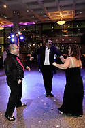 (left to right) Rick Flynn, from Dayton; Julio and Tina Gonzalez, from Miamisburg dance at the 21st birthday party of the Human Race Theatre Company in Sinclair's Ponitz Center, Saturday night, April 28th.