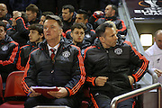 Manchester United Manager Louis van Gaal during the Europa League Round 16 match between Liverpool and Manchester United at Anfield, Liverpool, England on 10 March 2016. Photo by Phil Duncan.
