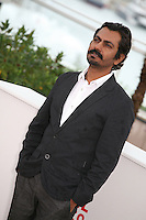 Actor Nawazuddin Siddiqui at the Monsoon Shootout film photocall at the Cannes Film Festival 18th May 2013