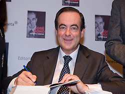 Former Minister of Defense Jose Bono book launch of his memoirs, which he began writing when leaving active politics after the defeat of the Socialist Party in November 2011, Madrid, Spain, October 4, 2012. Photo by Oscar Gonzalez / i-Images..SPAIN OUT