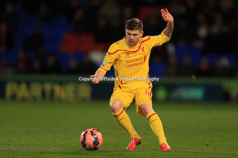 14 February 2015 - The FA Cup Fifth Round - Crystal Palace v Liverpool - Alberto Moreno of Liverpool - Photo: Marc Atkins / Offside.