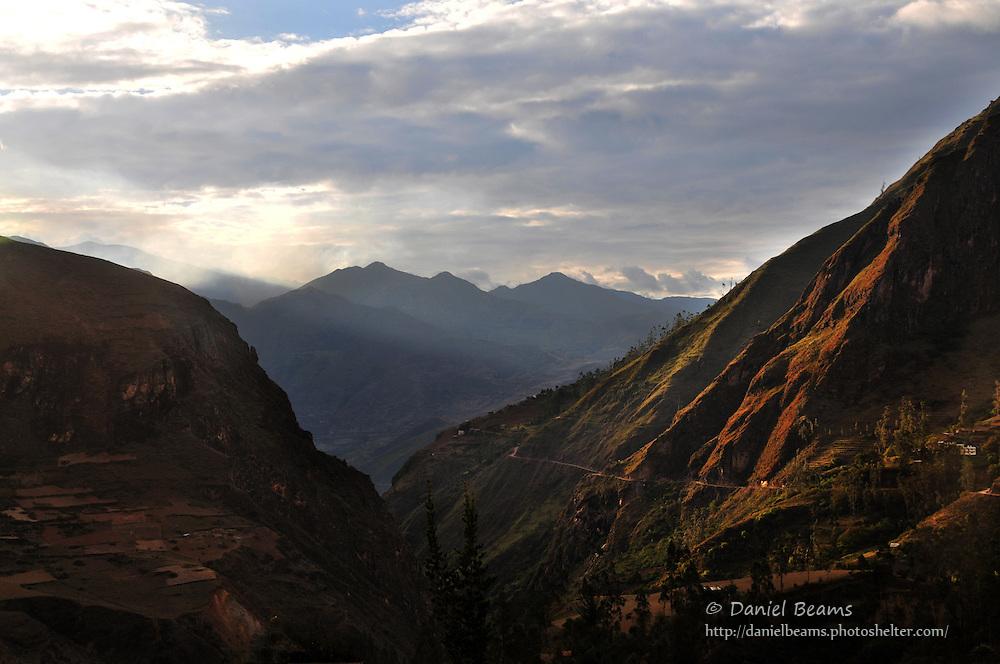 Mountain landscape near Sorata, Bolivia