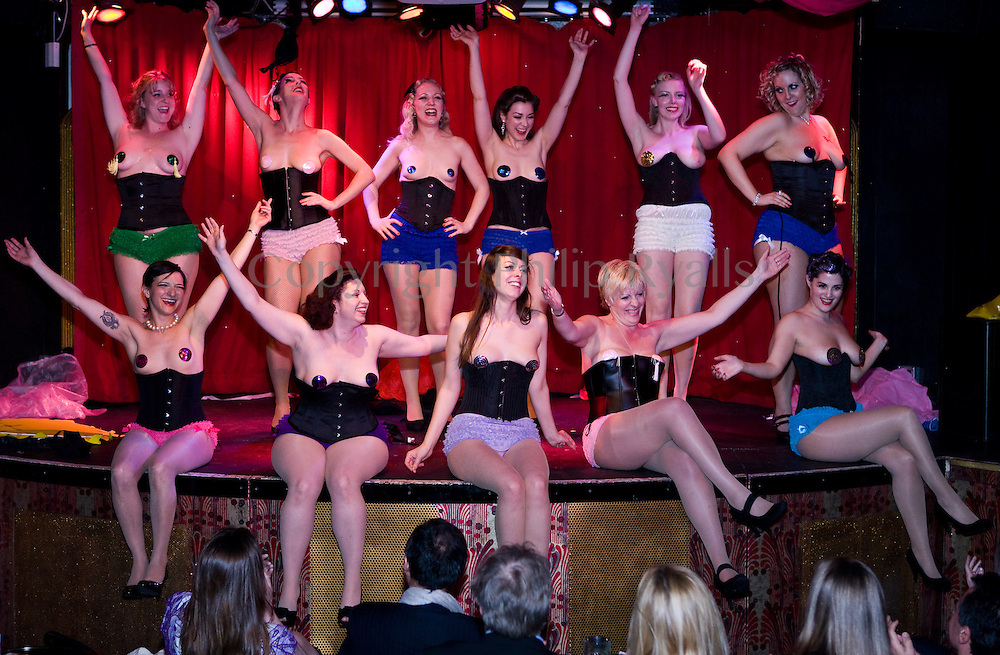 LONDON, UK - APRIL 10: The Cheek of It! Burlesque Dancers perform on stage at Madame JoJo's on April 18th, 2010 in London, United Kingdom. (Photo by Philip Ryalls/Redferns)**The Cheek of It!