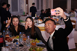 China Liv Pro Cycling pose for selfie at UCI Cycling Gala 2019 in Guilin, China on October 22, 2019. Photo by Sean Robinson/velofocus.com