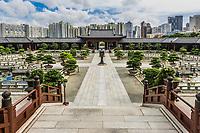 Chi Lin Nunnery courtyard at Kowloon in Hong Kong