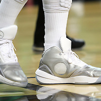 Central Florida guard Marcus Jordan (5) wears his trademark shoes during a Conference USA NCAA basketball game between the Marshall Thundering Herd and the Central Florida Knights at the UCF Arena on January 5, 2011 in Orlando, Florida. Central Florida won the game 65-58 and extended their record to 14-0.  (AP Photo/Alex Menendez)