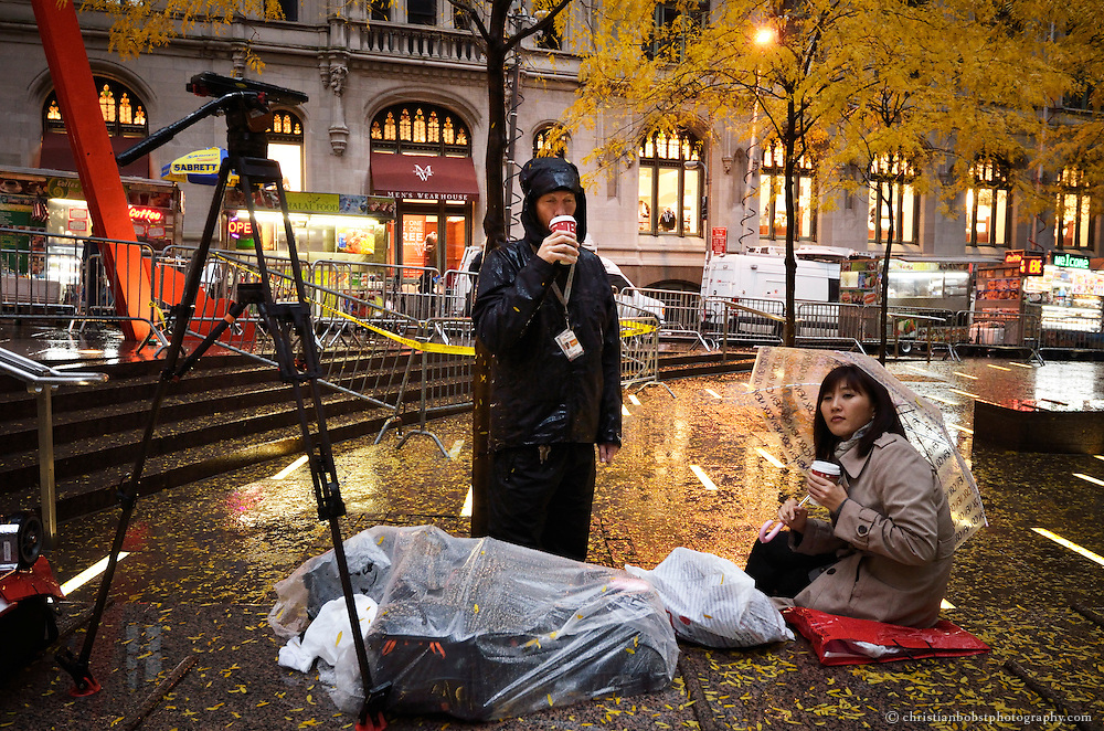 These images were taken on November 17, two days after police officers arrested about 200 Occupy Wall Street protesters in an operation to clear the nearly two-month-old camp at Zucotti park in New York City.