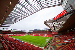 LIVERPOOL, ENGLAND - Saturday, March 9, 2019: A general view of Anfield from the new Main Stand looking out onto the Kenny Dalglish Stand before the FA Premier League match between Liverpool FC and Burnley FC. (Pic by David Rawcliffe/Propaganda)