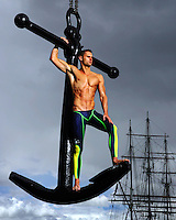 Australian swimmer Brett Hawke was at his chiseled best leading into the 2006 Commonwealth Games and I was keen to nab him for a portrait to run as a sport cover.<br />