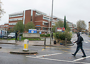 © Licensed to London News Pictures. 03/11/2014. London, UK. St George's hospital today 3rd November 2014. A woman tested for Ebola at a London hospital does not have the disease, health officials have said. She presented herself to St George's Hospital in Tooting, south London, on Sunday night (2nd November 2014) with a high temperature and was put in isolation from other patients.Photo credit : Stephen Simpson/LNP