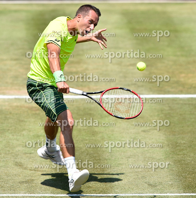 12.06.2015, Tennis Club Weissenhof, Stuttgart, GER, ATP Tour, Mercedes Cup Stuttgart, Viertelfinale, im Bild Philipp Kohlschreiber (GER) Aktion // during quarter Finals of Mercedes Cup of ATP world Tour at the Tennis Club Weissenhof in Stuttgart, Germany on 2015/06/12. EXPA Pictures &copy; 2015, PhotoCredit: EXPA/ Eibner-Pressefoto/ Weber<br /> <br /> *****ATTENTION - OUT of GER*****
