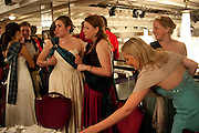 GEORGINA FRIEND; LAURA HENDERSON; LOUISA CREW; GEORGINA NORRIS, The Royal Caledonian Ball 2011. In aid of the Royal Caledonian Ball Trust. Grosvenor House. London. W1. 13 May 2011.<br /> <br />  , -DO NOT ARCHIVE-© Copyright Photograph by Dafydd Jones. 248 Clapham Rd. London SW9 0PZ. Tel 0207 820 0771. www.dafjones.com.