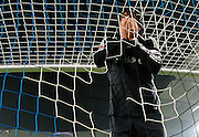 Luca Toni of Bayern Munich covers his face in despair after missing another easy chance. Hamburg SV  v Bayern Munich. 30th Jan 09