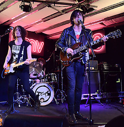 Carl Barat and The Jackals perform and sign copies of their album at HMV, Oxford Street, London on Monday 16 February 2015