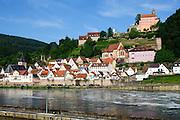 Altstadt und Schloss Hirschhorn am Neckar, Hirschhorn, Neckar, Hessen, Deutschland | Old Town and Castle, Hirschhorn, Neckar, Hessen, Germany
