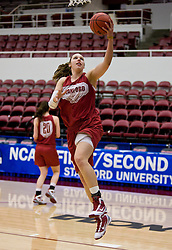 March 19, 2010; Stanford, CA, USA;  Stanford Cardinal forward Kayla Pedersen (14) before the first round game of the 2010 NCAA Womens Division I Championship at Maples Pavilion.