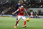 Conor Sammon attacks during the Sky Bet Championship match between Rotherham United and Bolton Wanderers at the New York Stadium, Rotherham, England on 27 January 2015. Photo by Richard Greenfield.