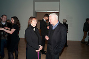 JOAN BAKEWELL; MICHAEL CRAIG-MARTIN;, Susan Hiller opening, Tate Britain. 31 January 2010. -DO NOT ARCHIVE-© Copyright Photograph by Dafydd Jones. 248 Clapham Rd. London SW9 0PZ. Tel 0207 820 0771. www.dafjones.com.