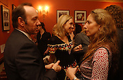 Kevin Spacey, Kate Pakenham and Jamie Byng, Opening night of Embers, Duke of York's theatre. St. Martin's Lane. London. 1 March 2006. ONE TIME USE ONLY - DO NOT ARCHIVE  © Copyright Photograph by Dafydd Jones 66 Stockwell Park Rd. London SW9 0DA Tel 020 7733 0108 www.dafjones.com