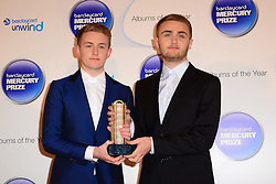 Mercury Prize. <br /> Disclosure attends the Barclaycard Mercury Prize at The Roundhouse, London, United Kingdom. Wednesday, 30th October 2013. Picture by Nils Jorgensen / i-Images