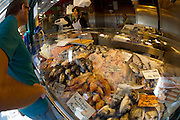 The Naschmarkt, Vienna's biggest market. Fresh fish and seafood at Umar.