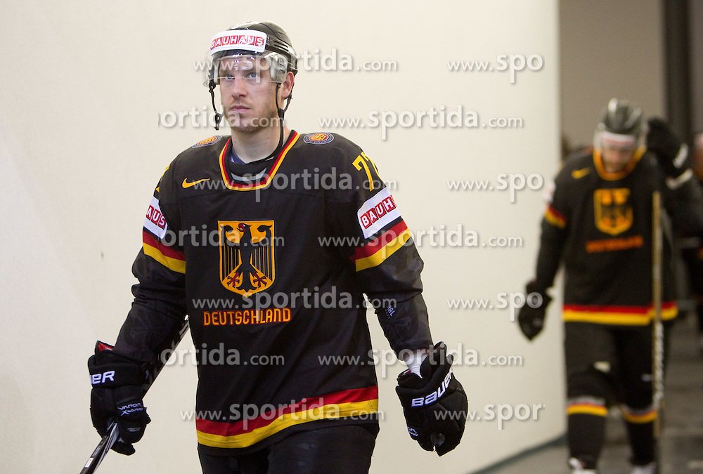 Nicolai Goc of Germany after the ice-hockey match between Slovenia and Germany of Group A of IIHF 2011 World Championship Slovakia, on May 3, 2011 in Orange Arena, Bratislava, Slovakia. Germany defeated Slovenia 3-2 after overtime and penalty shots. (Photo By Vid Ponikvar / Sportida.com)