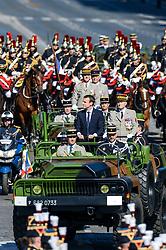 French President Emmanuel Macron attends Bastille Day Military Parade, Place de la Concorde, in Paris on July 14, 2017. Photo by Ammar Abd Rabbo/ABACAPRESS.COM