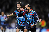 FOOTBALL - CHAMPIONS LEAGUE 2010/2011 - GROUP STAGE - GROUP B - OLYMPIQUE LYONNAIS v SL BENFICA - 20/10/2010 - PHOTO JEAN MARIE HERVIO / DPPI - JOY LISANDRO LOPEZ (OL) AFTER HIS GOAL