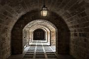 Medieval hallway, Palma, Mallorca, Spain.