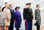 19.NOVEMBER.2011. MONACO<br /> <br /> PRINCE ALBERT II OF MONACO WITH WIFE PRINCESS CHARLENE OF MONACO AT THE PALACE FOR THE NATIONAL DAY OF MONACO, IN MONACO.<br /> <br /> BYLINE: EDBIMAGEARCHIVE.COM<br /> <br /> *THIS IMAGE IS STRICTLY FOR UK NEWSPAPERS AND MAGAZINES ONLY*<br /> *FOR WORLD WIDE SALES AND WEB USE PLEASE CONTACT EDBIMAGEARCHIVE - 0208 954 5968*
