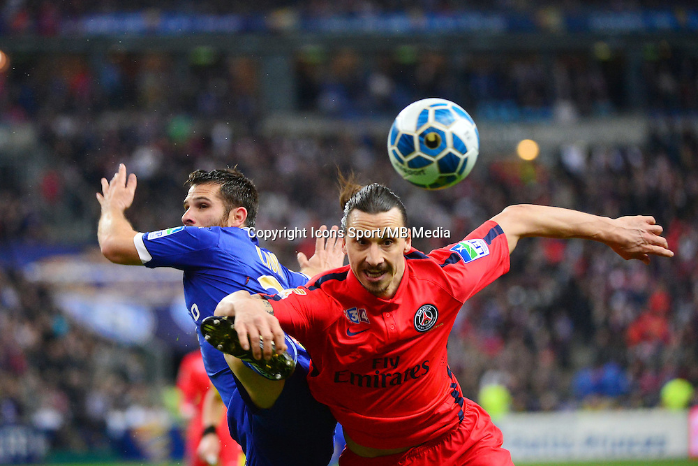 Zlatan IBRAHIMOVIC / Gilles CIONI - 11.04.2015 -  Bastia / PSG - Finale de la Coupe de la Ligue 2015<br />