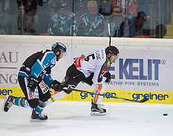 09.10.2015, Keine Sorgen Eisarena, Linz, AUT, EBEL, EHC Liwest Black Wings Linz vs Dornbirner Eishockey Club, 9. Runde, im Bild Christopher D Alvise (Dornbirner Eishockey Club) // during the Erste Bank Icehockey League 9th round match between EHC Liwest Black Wings Linz and Dornbirner Eishockey Club at the Keine Sorgen Icearena, Linz, Austria on 2015/10/09. EXPA Pictures © 2015, PhotoCredit: EXPA/ Reinhard Eisenbauer