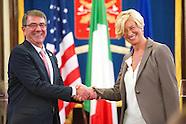 Italian minister of defense meets US secretary of defense