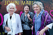 DESCENDANTS OF JOHN MARTIN: ; JANET SIMPSON; BARBARA MORDEN; ANNE SIMPSON,  John Martin: Apocalypse. Tate Britain. Millbank. London. 19 September 2011.<br /> <br />  , -DO NOT ARCHIVE-© Copyright Photograph by Dafydd Jones. 248 Clapham Rd. London SW9 0PZ. Tel 0207 820 0771. www.dafjones.com.
