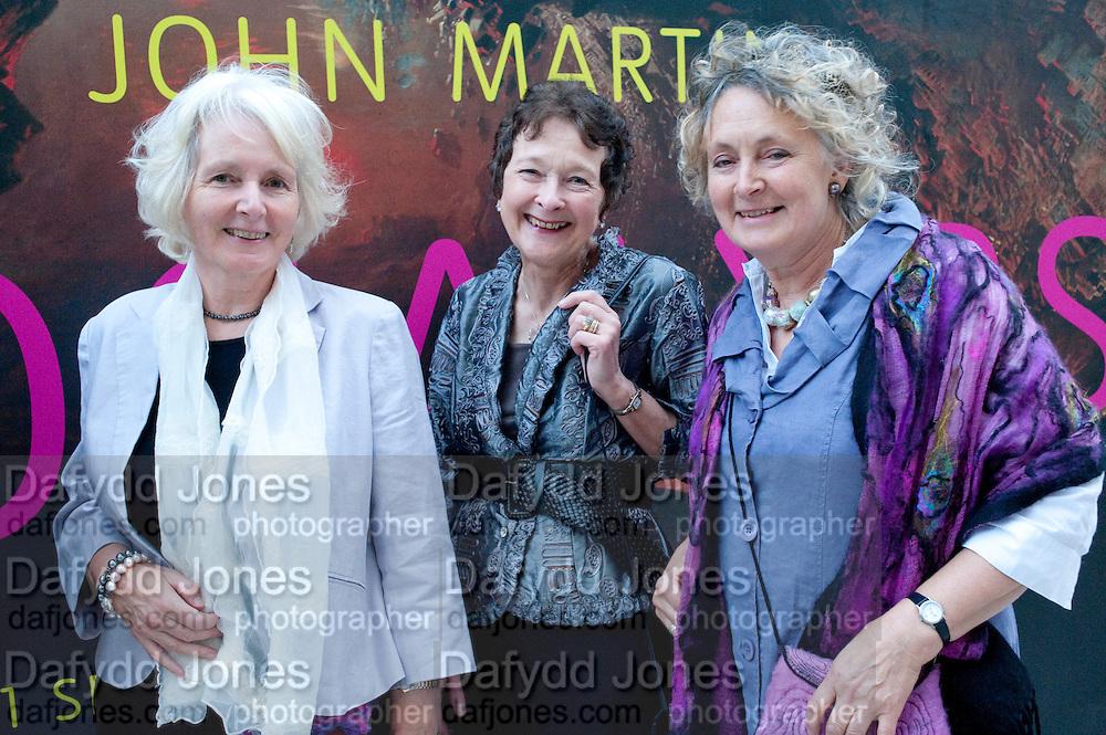 DESCENDANTS OF JOHN MARTIN: ; JANET SIMPSON; BARBARA MORDEN; ANNE SIMPSON,  John Martin: Apocalypse. Tate Britain. Millbank. London. 19 September 2011.<br /> <br />  , -DO NOT ARCHIVE-© Copyright Photograph by Dafydd Jones. 248 Clapham Rd. London SW9 0PZ. Tel 0207 820 0771. www.dafjones.com.