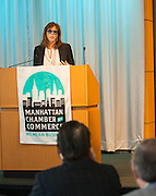 Manhattan Chamber of Commerce's 2012 Awards Breakfast celebrated business excellence by recognizing outstanding leaders. Cultural Achievement Award winner Jane Rosenthal, Tribeca Film Festival. The awards were presented by Well Fargo and hosted at Con Edison's Conference Center on January 31, 2013.