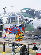 "Front end detail of a B-25 Bomber, ""Panchito,"" EAA Airventures, Oshkosh, Wisconsin."