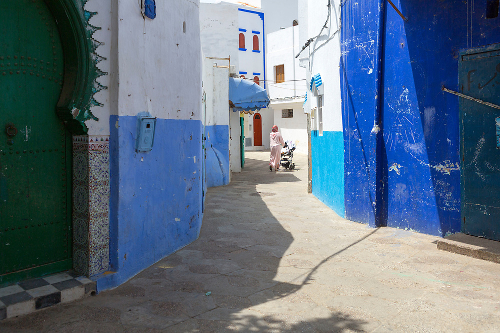 Street architecture and local life, Asilah, Northern Morocco, 2015-08-11. <br />
