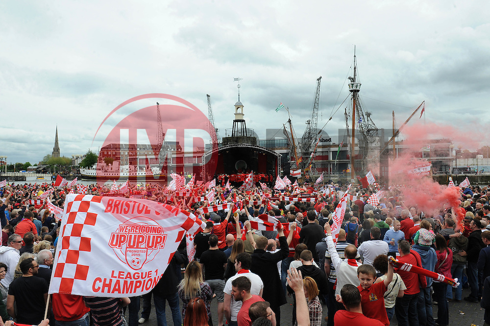 A general view of the Lloyds Amphitheatre as Bristol City celebrate winning the Sky bet league one and the Johnstone Paint Trophy - Photo mandatory by-line: Dougie Allward/JMP - Mobile: 07966 386802 - 04/05/2015 - SPORT - Football - Bristol -  - Bristol City Celebration Tour