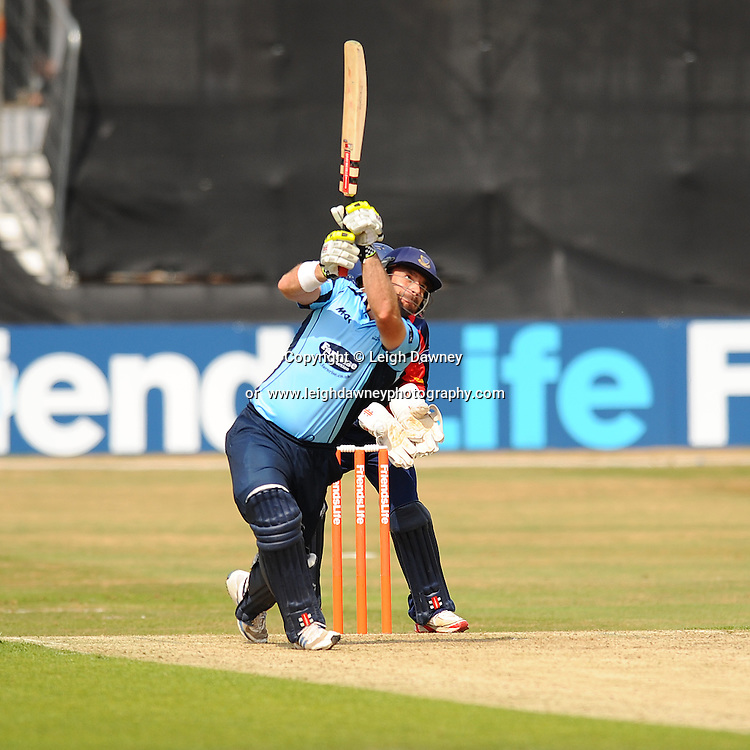"Michael Yardy of Sussex batting during the Friends Life T20 between Essex ""Eagles"" v Sussex ""Sharks"" at the Essex County Cricket Ground on the 14th July 2013. Credit: © Leigh Dawney Photography. Self Billing where applicable. Tel: 07812 790920"
