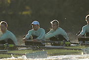 Putney, Great Britain,  CUBC.True Love. right to left, . Henry PELLY, 4. Bartosz SZCZYRBA, 5. Pete MARSHLAND,on  the Hammersmith Bend during the 2007 Cambridge University Trial Eights, right, One Night Stand  a few feet down to True Love,  raced over the championship Course from Putney to Mortlake  11/12/2007 [Mandatory Credit Peter Spurrier/Intersport Images] , Rowing Course: River Thames, Championship course, Putney to Mortlake 4.25 Miles, , Varsity Boat Race. , Pete Marsland