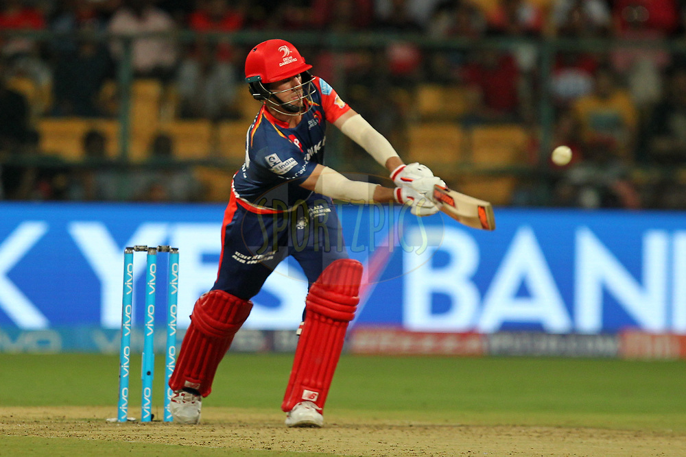 Patrick Cummins of Delhi Daredevils during match 5 of the Vivo 2017 Indian Premier League between the Royal Challengers Bangalore and the Delhi Daredevils held at the M.Chinnaswamy Stadium in Bangalore, India on the 8th April 2017Photo by Prashant Bhoot - IPL - Sportzpics